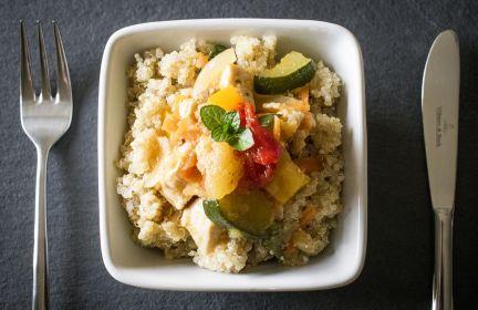 Warzywa z quinoa.